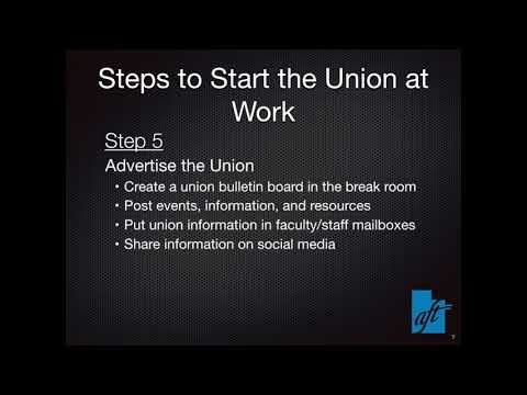 Starting the Union At Your Worksite   HD 720p