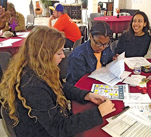 Illinois students during workplace safety training